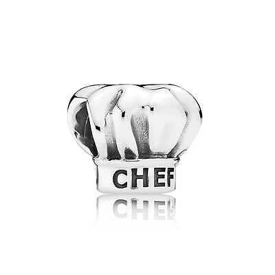 Authentic Pandora Charm Sterling Silver  I Love Cooking Chef Hat 791500