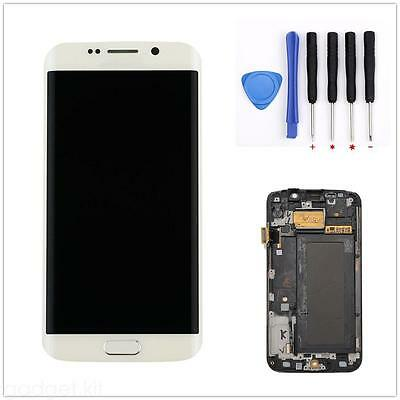 Lcd Touch Screen Glass Panel Digitizer + Frame For Samsung galaxy S6 edge G925F