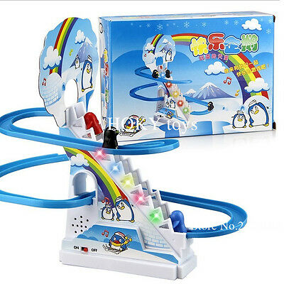 Penguin climb stairs track toys,Children's classic track toys