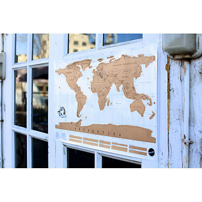 Scratch Off Large World Map Poster Personalized Travel Vacation Personal Tube Uk