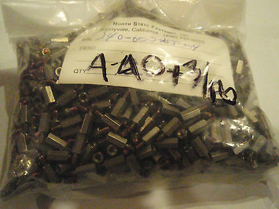 Lot of 100 4-40 x 3/8 Standoff M-F stainless steel with lock tite