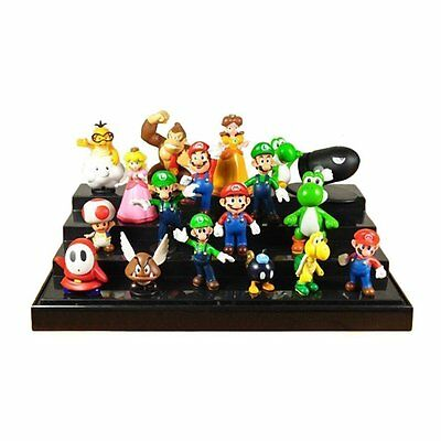 Super Mario Bros Lot 18 pcs Action Figure Doll Playset Figurine Gift Collection