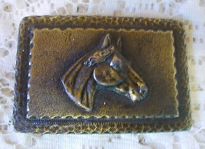 Vintage Brass Western Horse Head Belt Buckle