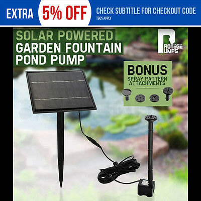 NEW PROTEGE Solar Power Fountain Water Pump Garden Pond Submersible Pool Panel