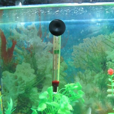 Pond Aquarium Fish Tank Water Temperature Thermometer with Suction Cup