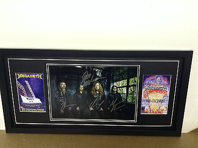Megadeth Genuine Hand Signed/Autographed Photograph with COA