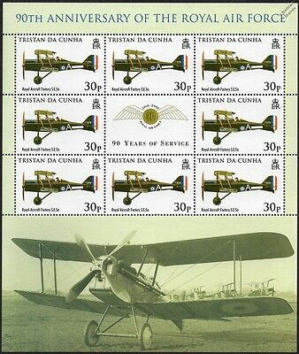 RAF S.E.5a Scout Experimental Aircraft Stamp Sheet (2008 Royal Air Force 90th)
