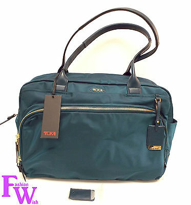 New TUMI 484711 Voyageur ATHENS CARRY ALL Teal Blue Nylon Luggage Bag