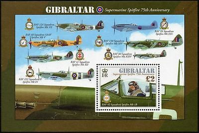 WWII RAF Squadron Supermarine SPITFIRE 75th Anniv. Aircraft Stamp Sheet (2011)
