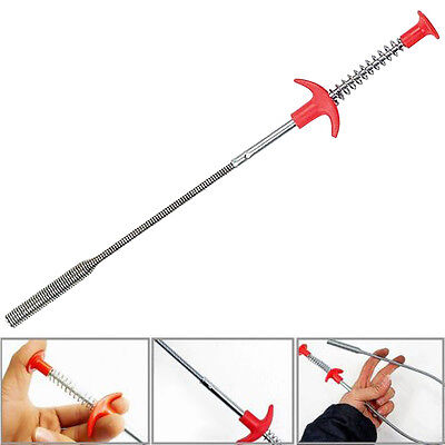 Flexible Long Reach Claw Pick Up Narrow Bend Curve Grabber Tool Spring Grip 60cm