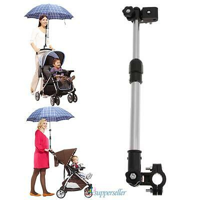 Adjustable Baby Stroller Chair Pram Bicycle Umbrella Bar Stretch Stand Holder US
