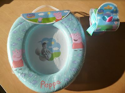 Peppa Pig Kids Soft Padded Potty Toilet Training Seat With FREE Sip Cup