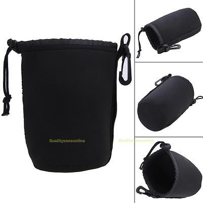 Universal Neoprene Waterproof Soft Pouch Bag Case S/M/L/XL For Video Camera Lens
