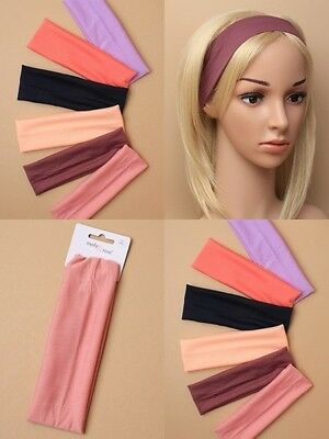 PACK OF 6 JERSEY FABRIC BANDEAUX - 19x6cm, HEADBAND : SP-6524 PK6