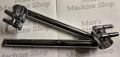 "CLIP-ON HANDLEBARS; 35mm FORKS (1-3/8""); 7/8"" BAR DIAMETER; CHROME PLATED STEEL"
