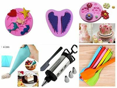 Silicone Spatula Scraper Baking Cooking Mixer Kitchen Utensil Tool Cake Mold