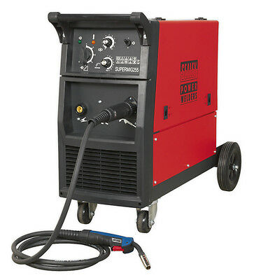 Sealey Tools Supermig255 Professional Mig Welder 250Amp 230V With Binzel Euro To