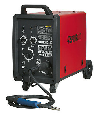 Sealey Tools Supermig200 Professional Mig Welder 200Amp 230V With Binzel Euro To