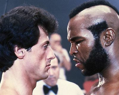 Sylvester Stallone And Mr T 03 (Rocky Iii) Cast Photo Print