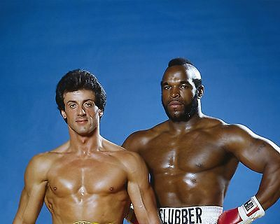 Sylvester Stallone And Mr T 05 (Rocky Iii) Cast Photo Print