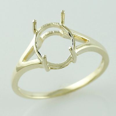9x11 MM Oval Shape Semi Mount Ring Authentic Gold Woman Occasion Gift Jewelry