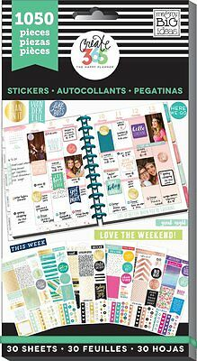 Me & My Big Ideas Create 365 Happy Planner Color-Coordinated Value Pack Stickers