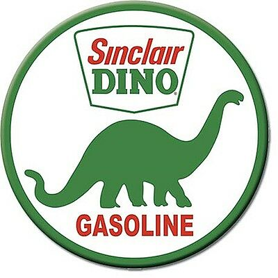 Sinclair Dino Gasoline round fridge magnet   75mm diameter  (de)