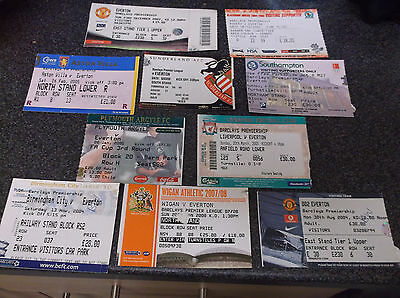 Everton  Away Ticket Stubs  X 10  ( Set 4)