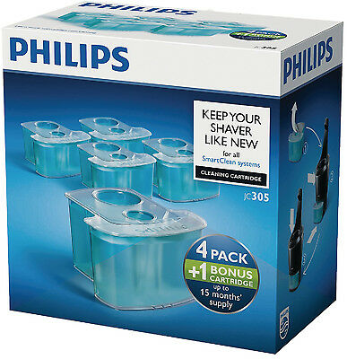 Philips SmartClean Cleaning Cartridge 4+1 pack for Shavers (JC305/50) 5 pack