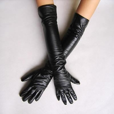 Sexy guanti lunghi in eco pelle 2 COLORS 50 cm long PU leather gloves
