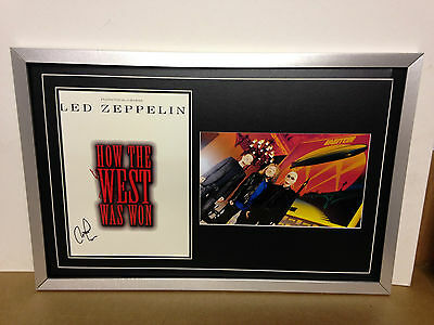 Led Zeppelin Hand Signed/Autographed Poster with Photograph & COA