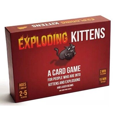 Exploding Kittens Original Edition Fun Party Card Game FREE Delivery