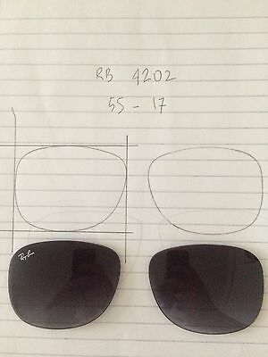 Ray Ban ANDY RB4202 Genuine Replacement Lenses For Sunglasses