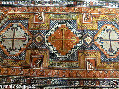 A FABULOUS OLD HANDMADE RUSSIAN ORIENTAL RUG (200 x 120 cm)