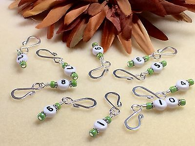 Row Counter Stitch Markers for Knitting & Crochet- Removable Number Markers 1-10