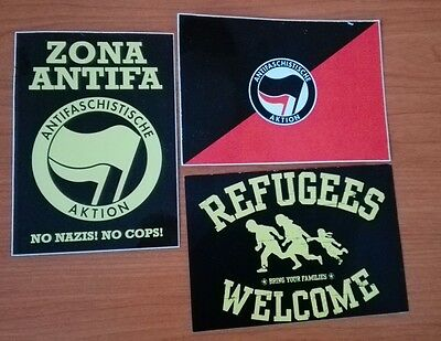 ANTIFA 3 NEW STICKERS PACK  Oi! Clockwork Orange, rocksteady, skinhead reggae