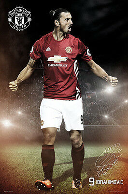 ZLATAN IBRAHIMOVIC Manchester United Signature Series EPL Soccer POSTER