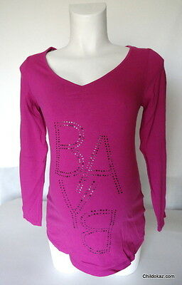 """Tee-shirt manches longues message de grossesse """"BABY"""" taille 38-40"""