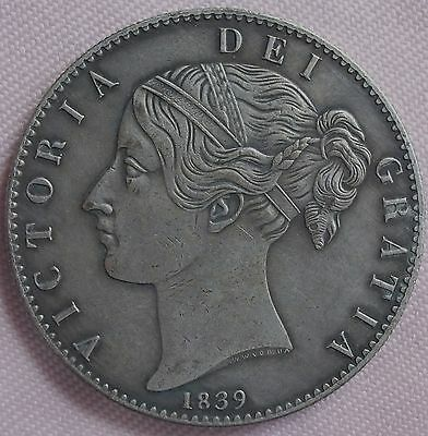 1839 Victoria Crown, Copy, (FREE UK POSTAGE AVAILABLE), Same size & Weight