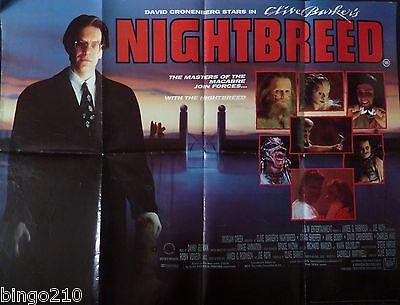 Nightbreed Original 1990 Cinema Quad Poster Clive Barker David Cronenberg
