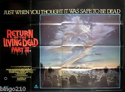 Return Of The Living Dead Part 2 Original Cinema Quad Poster Zombie Horror 1988
