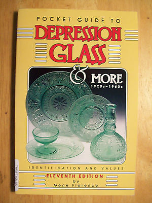 DEPRESSION GLASS PRICE GUIDE VALUE BOOK Plates Dishes Pitchers Cups