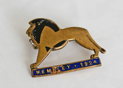 Enamel And Brass Pin Badge.   Wembley Exhibition, 1924