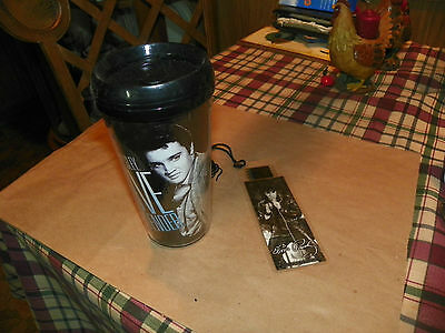 Film Cell Genuine 35mm Laminated Bookmark Elvis Presley Leather USBM508 With cup
