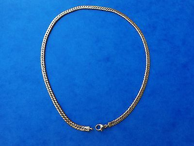 COLLIER MAILLE ANGLAISE OR JAUNE 18K 750 12,5g GOLD HAMMERED CURB CHAIN NECKLACE