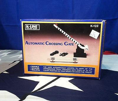 K-Line Automatic Crossing Gate K-123  In Box O Scale Model Trains New In Box