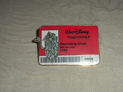 Disney Pin Gus Id Imagineering Badge Hitchhiking Ghost Haunted Mansion Authentic