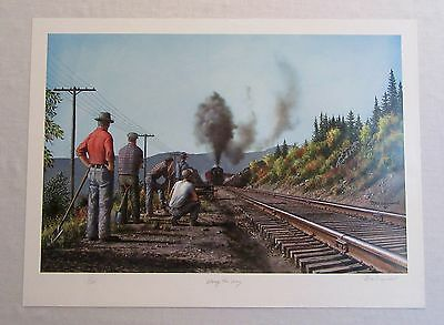 Max Jacquiard ALONG THE WAY Signed Limited Edition Railroad Print
