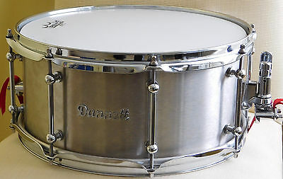 Dunnett Stainless Steel 4 Snare Drum*6.5x14*FREE SHIPPING*