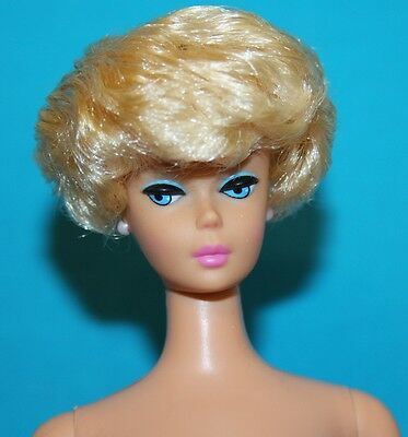 Vintage Barbie Reproduction NUDE Blonde Bubblecut Bubble Gum Pink Lips PERFECT!